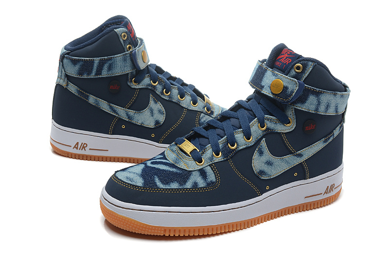 Nike Air Force 1 High Denim Jeans Sneaker